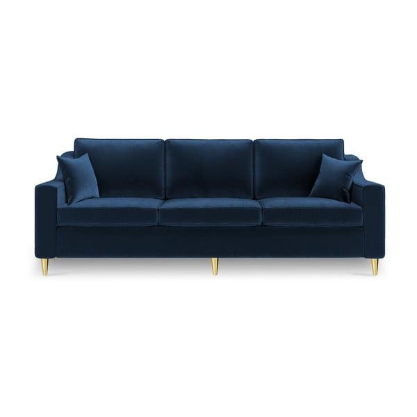 Tmavě modrá třímístná rozkládací pohovka Mazzini Sofas Marigold