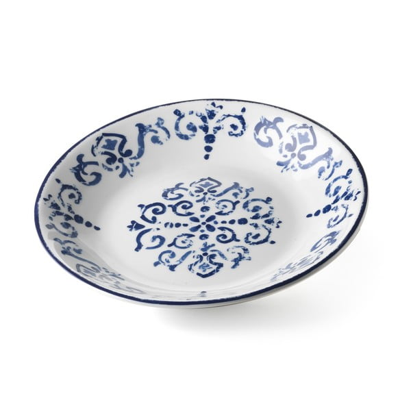 Hluboký servírovací talíř Antico Blue, 29 cm
