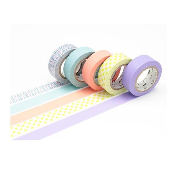 Sada 5 washi pásek Pastel