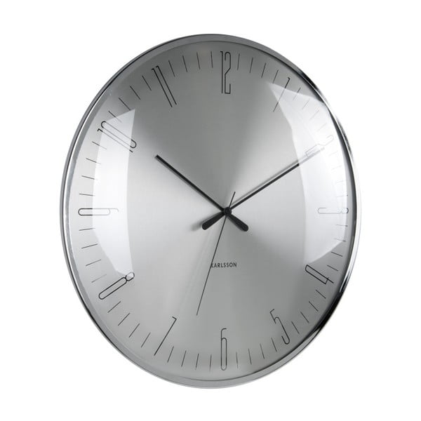 Skleněné hodiny Karlsson Dragonfly, ø40 cm