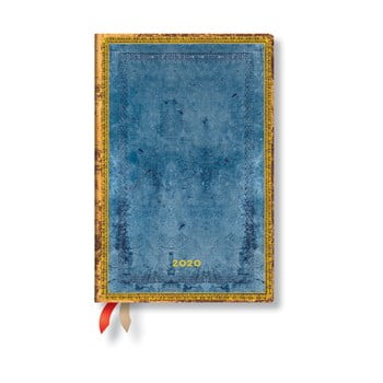 Agendă pentru anul 2020, cu copertă tare Paperblanks Riviera, 160 file, albastru de la Paperblanks