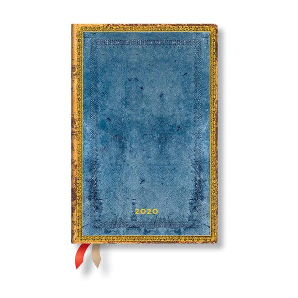 Agendă pentru anul 2020, cu copertă tare Paperblanks Riviera, 160 file, albastru