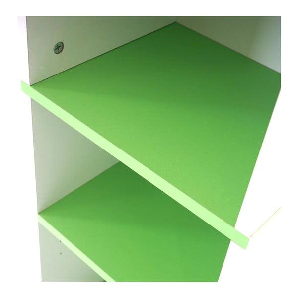 Koupelnová skříňka Sonoma White/Green, 31,5x179 cm