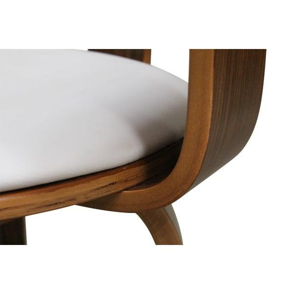 Otočná židle Suedoise Blanche