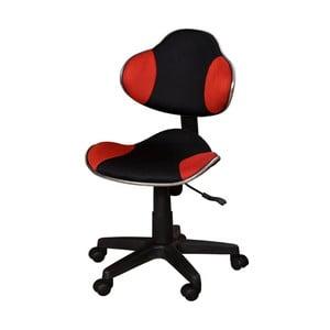 Červenočerná kancelářská židle SOB Office