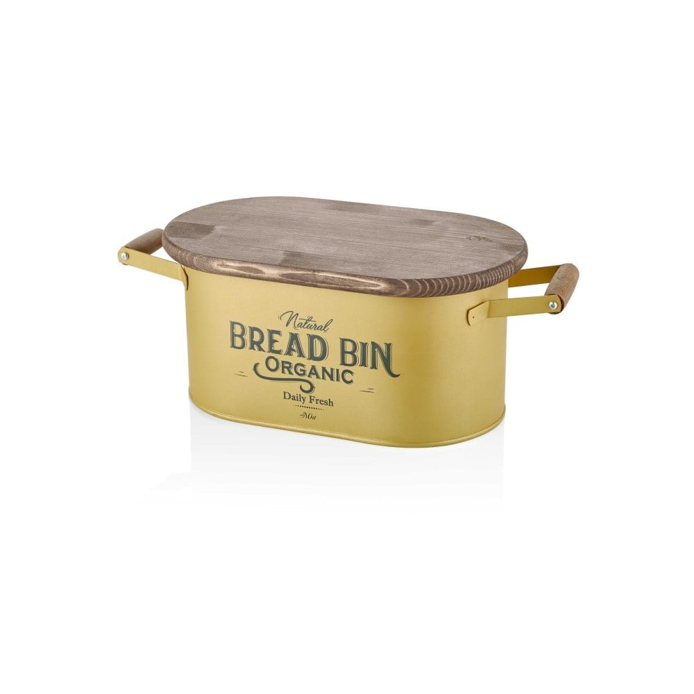 Dóza na chléb ve zlaté barvě The Mia Bread, délka 48 cm