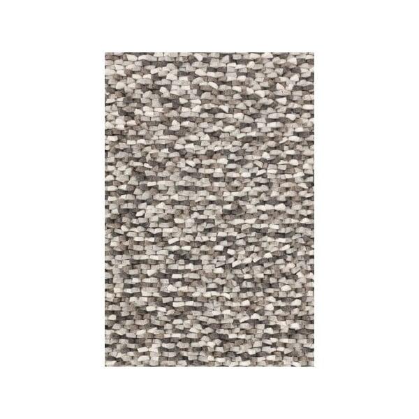 Vlněný koberec Crush Grey, 200x300 cm