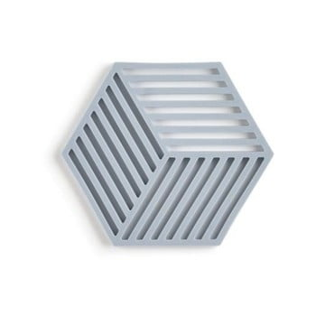Suport din silicon pentru vase fierbinți Zone Hexagon, gri albastru imagine