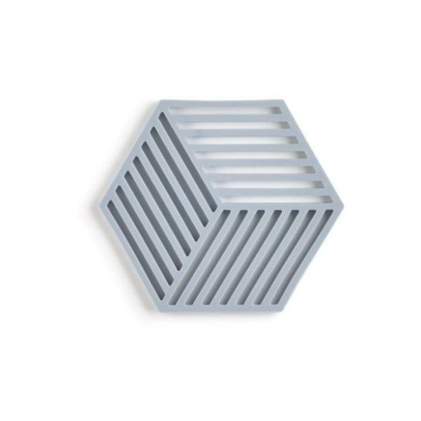 Hexagon szürkéskék szilikonos edényalátét - Zone