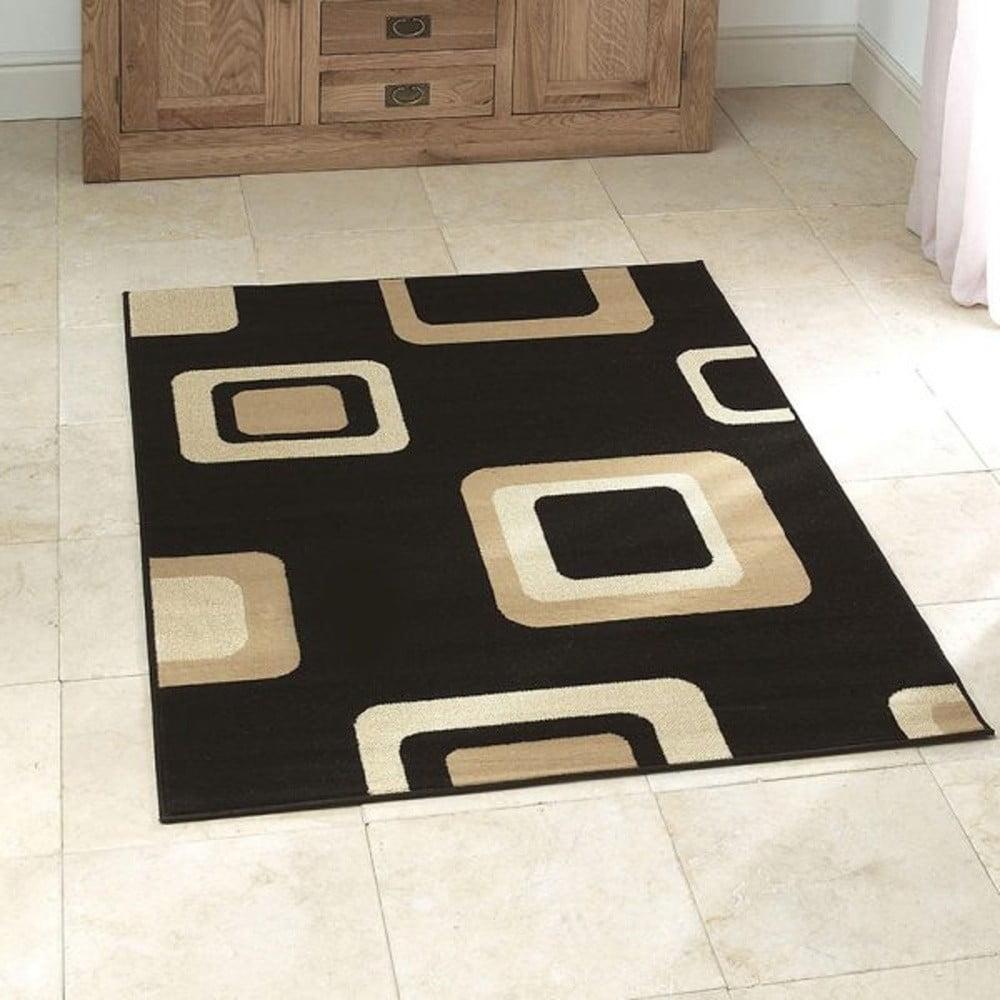 Černý koberec Think Rugs Diamond, 60 x 115 cm