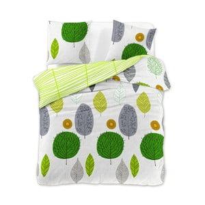 Povlečení z bavlněného saténu DecoKing Greenleaf, 160 x 200 + 2 povlaky na polštáře 70 x 80