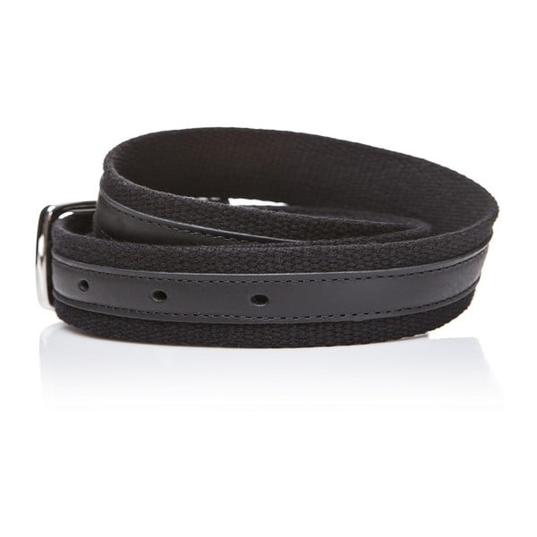 Kožený pásek Black Fabric, 120 cm