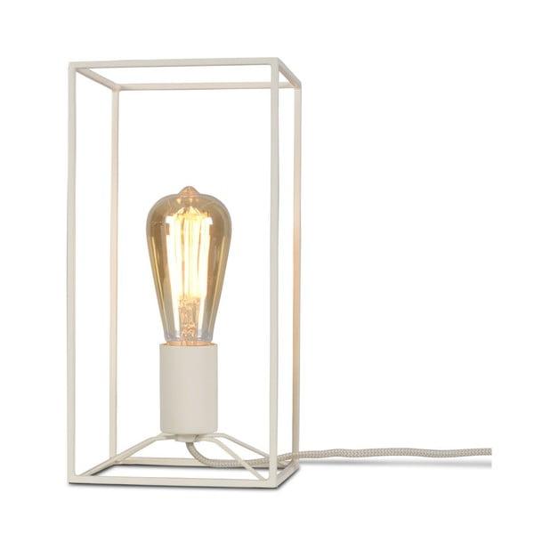 Biela stolová lampa Citylights Antwerp, výška 30 cm