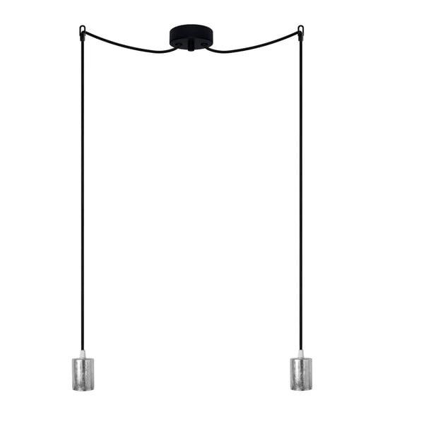 Dvojité závěsné kabely Cero, stříbrná/černá/černá