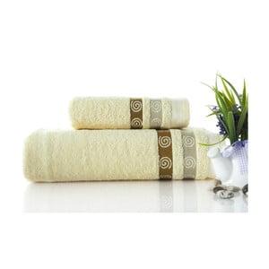 Set dvou ručníků Truva Cream, 90x150 a 50x90 cm
