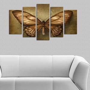 Pětidílný obraz Můra, 110x60 cm