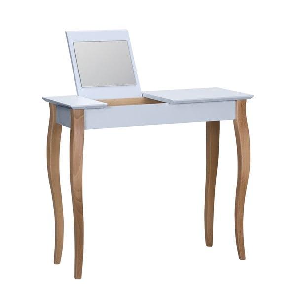 Dressing Table világosszürke fésülködőasztal tükörrel, hosszúság 85 cm - Ragaba