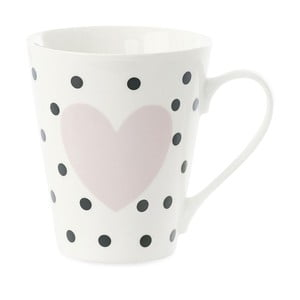 Porcelánový hrnek Miss Étoile Coffee Black Dots and Rose Heart