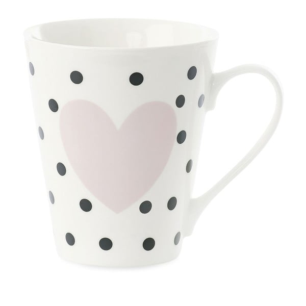 Porcelánový hrnek Miss Étoile Coffee Black Dots and Rose Heart