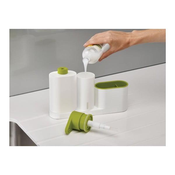 Bílý stojánek na mycí prostředky Joseph Joseph SinkBase Plus