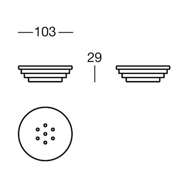 Držák na mýdlo Chromo Soap, 10x3x10 cm