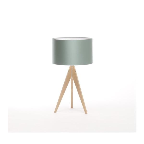 Ocelově modrá stolní lampa Artist, bříza, Ø 33 cm
