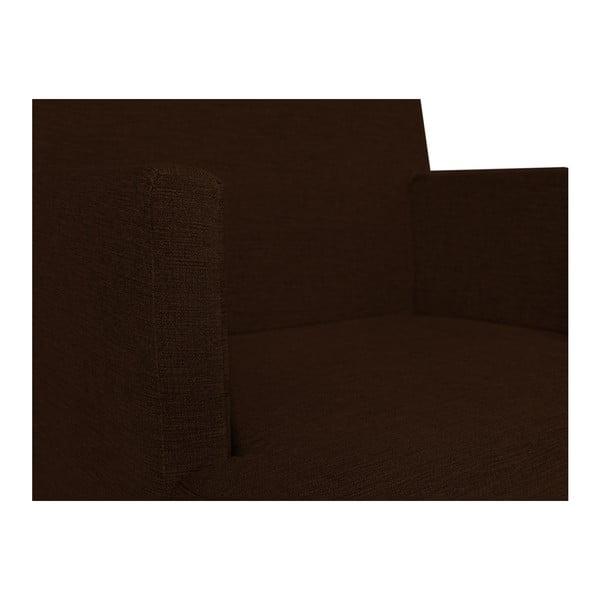 Tmavě hnědé křeslo BSL Concept Rodo