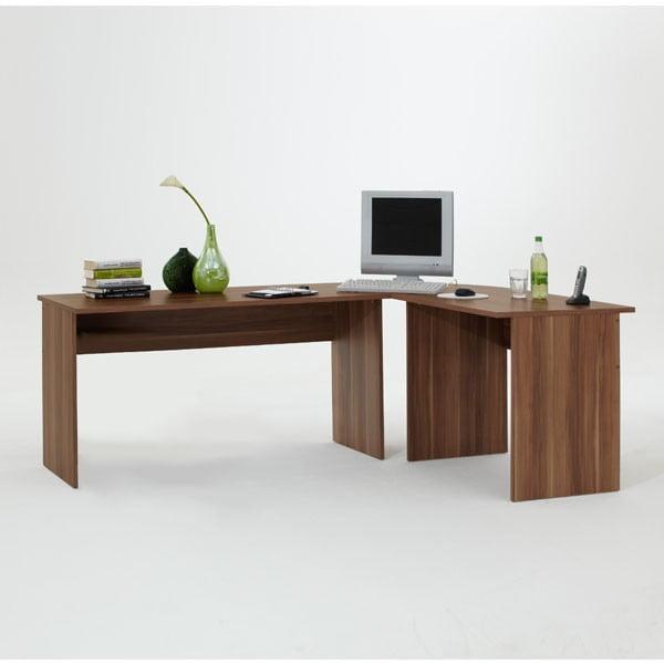 Rohový pracovní stůl 13Casa Till, švestka