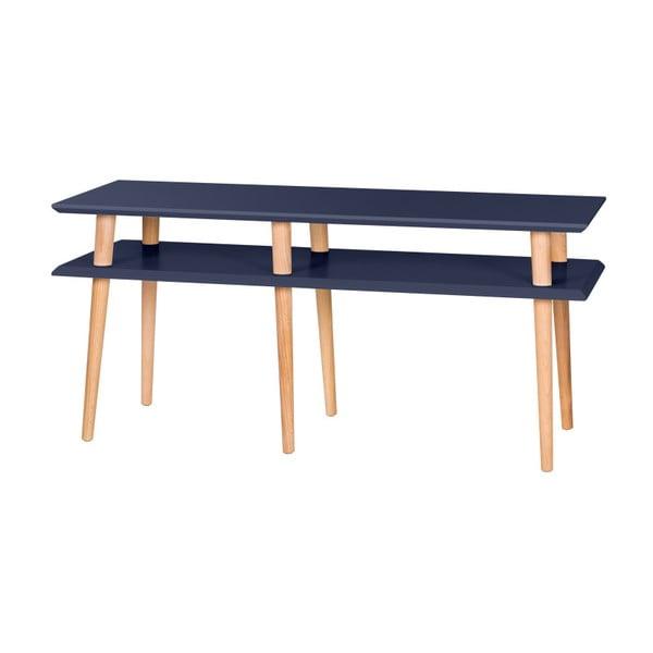 Grafitově šedý konferenční stolek Ragaba Mugo,délka119cm
