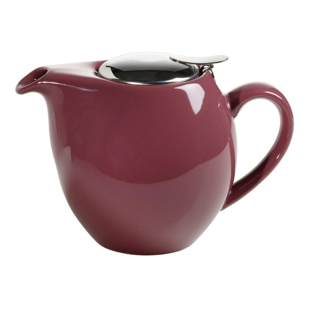 Vínově červená kameninová konvice se sítkem na čaj Maxwell & Williams Infusion, 1 l
