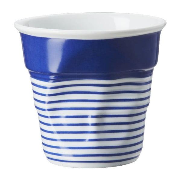 Kelímek na cappuccino Froisses 18 cl, modro-bílý