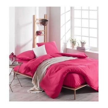 Lenjerie de pat cu cearșaf Rose, 200 x 220 cm, roz imagine