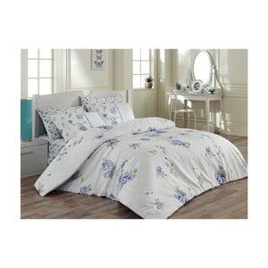 Lenjerie de pat cu cearșaf din bumbac Mina, 160 x 220 cm