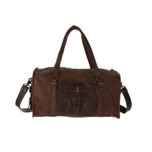 """Pánská kožená taška Duffel Bag 20"""""""