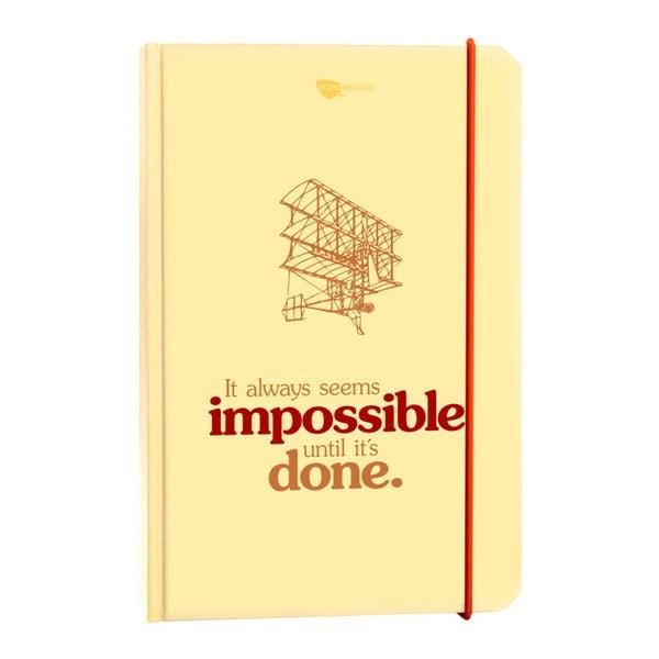 Zápisník z recyklovaného papíru It always seems impossible until it's done