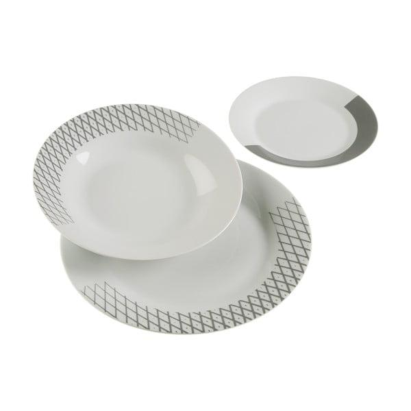 18-dielny set tanierov z porcelánu VERSA Diamond