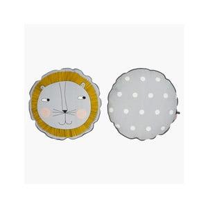 Dětský polštář z organické bavlny OYOY Lion, ⌀ 50 cm