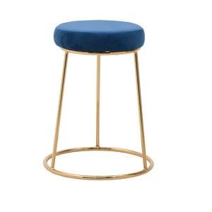 Modrá stolička InArt Velvet Society, výška55cm