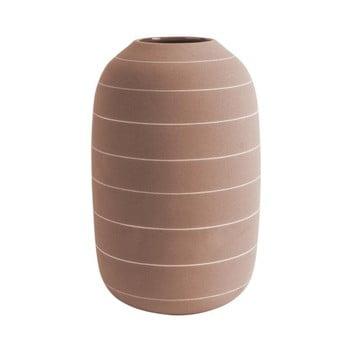 Vază din ceramică PT LIVING Terra, ⌀ 16 cm, cărămiziu