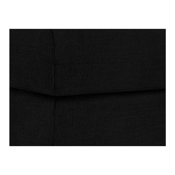 Černá podnožka Mazzini Sofas Iris