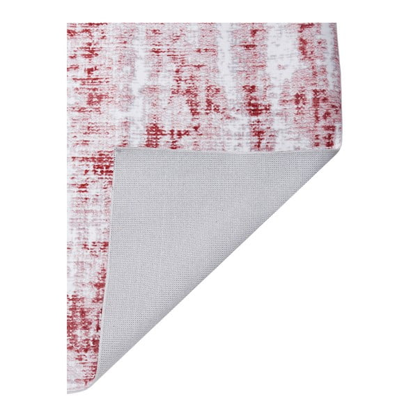 Covor Floorita Abstract Grey Burgundy, 80 x 150 cm