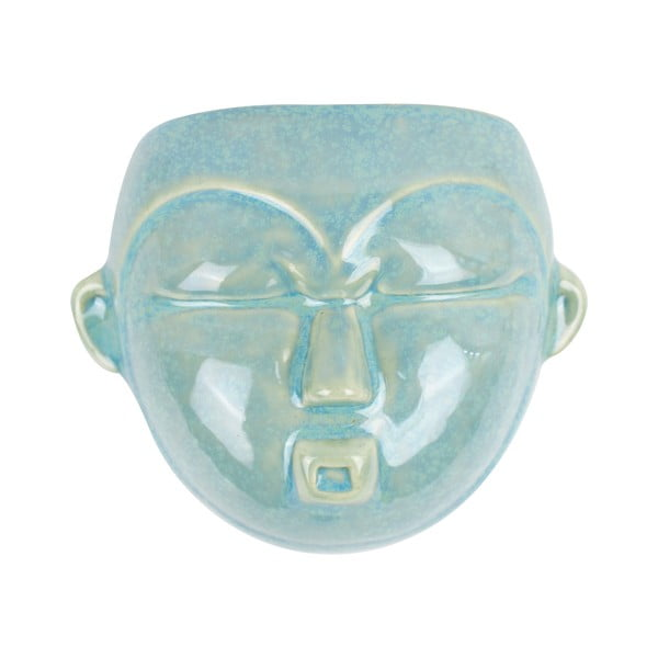 Zielona doniczka ścienna PT LIVING Mask, 18,1x14,5 cm