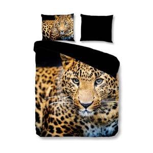 Povlečení na jednolůžko Muller Textiels Pure Wild Leopard, 140 x 200 cm