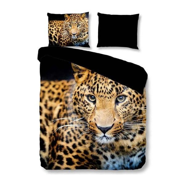 Povlečení na dvoulůžko z mikroperkálu Muller Textiels Pure Wild Leopard, 200 x 200 cm