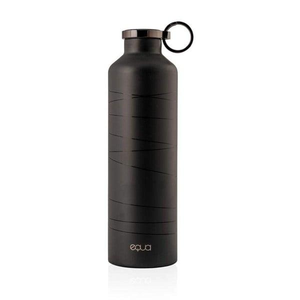 Basic Mr. Watt fekete rozsdamentes acél termopalack, 680 ml - Equa