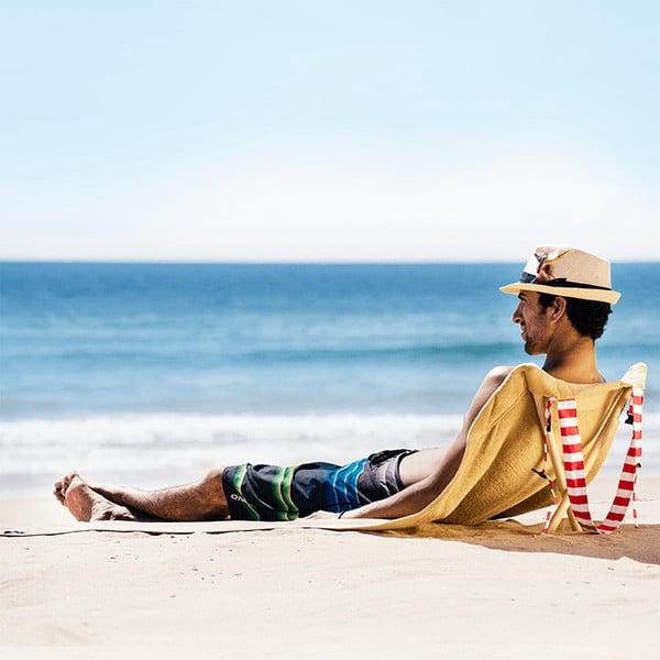 Skládací plážové lehátko a osuška v jednom Sun Seat Sand