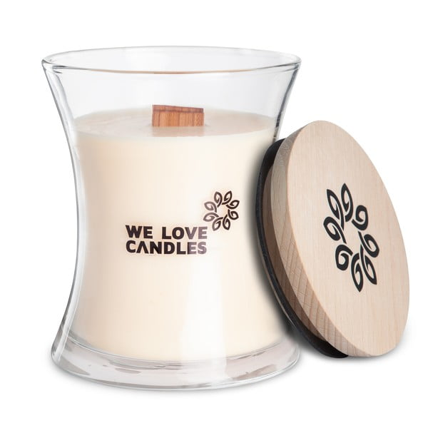 Świeczka z wosku sojowego We Love Candles Ivory Cotton, 129 h