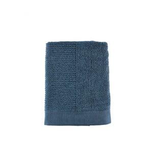 Tmavě modrá osuška Zone Simple, 70x140cm