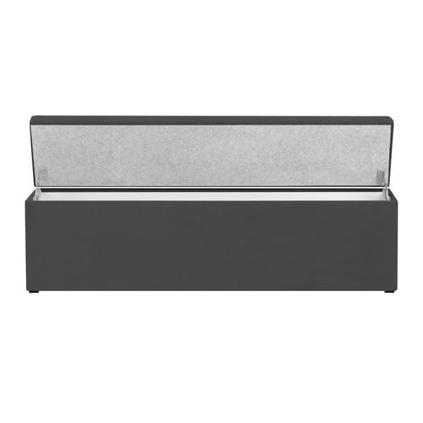 Tmavě šedý otoman s úložným prostorem Windsor & Co Sofas Astro, 180 x 47 cm