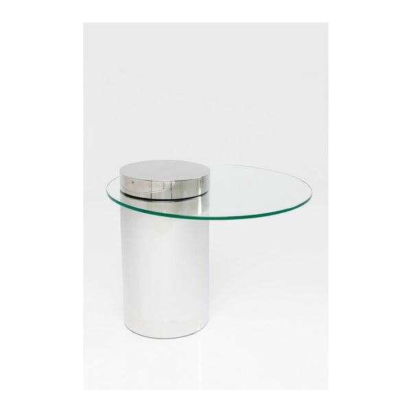 Konferenční stolek ze skla a kovu Kare Design Duett, Ø 65 cm